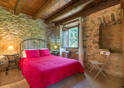 Bedroom with Stone Walls